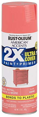 Coral Spray - Rust-Oleum 327903 American Accents Spray Paint, 12 oz, Gloss Coral