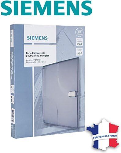 Siemens Porte Transparente Pour Tableau Electrique 2 Rangees