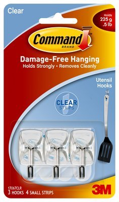 Wholesale CASE of 25 - 3M Command Clear Adhesive Utensil Han