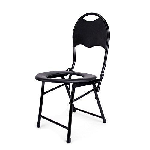 椅子の椅子ステンレス鋼のトイレの椅子老人のトイレ折りたたみ式の椅子モバイルトイレ B07CXDF3H5
