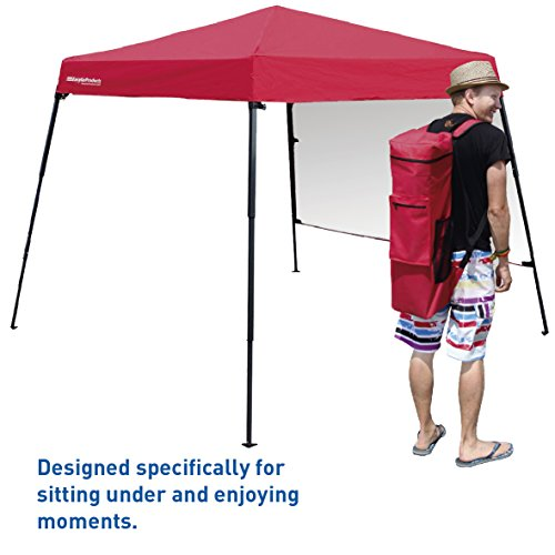 EasyGoProducts Portable Backpack Tent - 7'x7' Base with 6'x6' Awning Top – Lightweight for Hiking, Camping, Beach, Sports, Baby Tent and Family Outings - Pop Up Canopy by EasyGoProducts