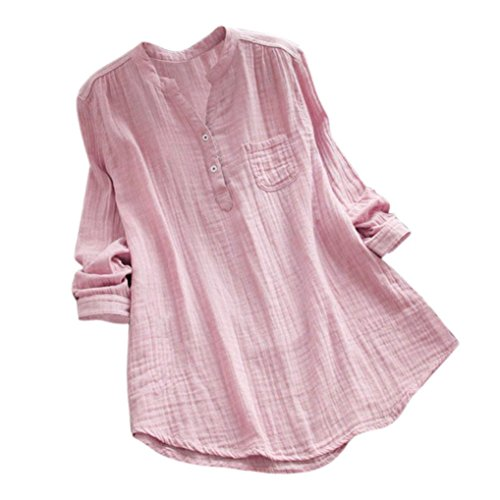 156d49c4cfa1b vermers Deals Womens New T Shirts Casual Loose Stand Collar Long Sleeve  Tunic Tops Blouse(