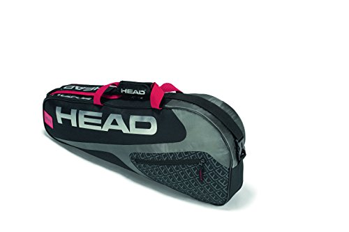(HEAD Elite 3R Pro Tennis Racquet Bag - 3 Racket Tennis Equipment Duffle Bag )