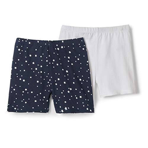 French Toast Girls' Big Stretch Kick Short, True Navy Star, XL (14/16)