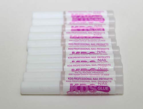 KDS Nail Glue for Professional Fake Nail Art & Design 10pcs Nail Tip Extension Glue