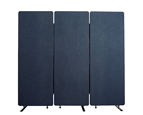Offex 3 Pack Acoustic Room Partition Dividers in Starlight Blue