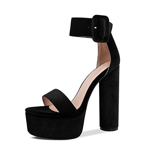 7 JIANXIN Abierta UK De De De Sandalias 5 Zapatos US 38 JP Discotecas 5cm Plataforma Tamaño Punta De Tacones 24 Mujer EU Verano Plataformas Plataformas Hebillas Gruesos 11pWrqw