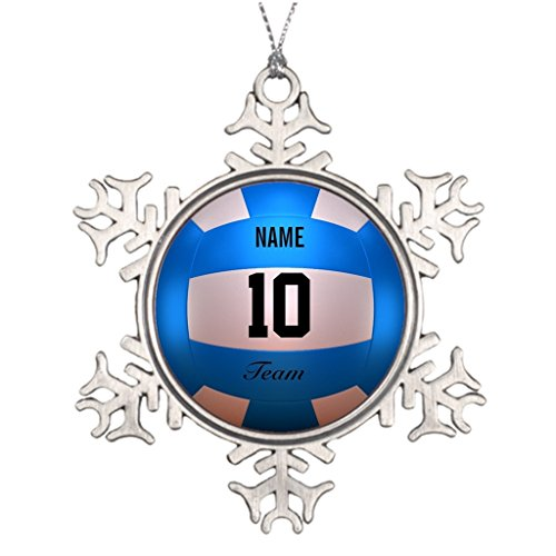 Silently Talent Volley Ball Sports Beach Personalized Family Xmas Ornament Volleyball Player Blue Team Sport Santa Xmas Ornament