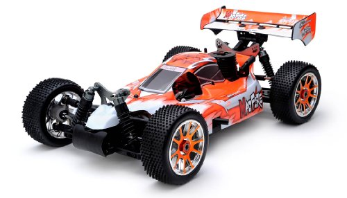 Exceed RC 1/8th Scale MadFire .21 Nitro Gas 4WD RC Buggy 100% RTR for Beginners [Gama Orange] 2.4GhzSTARTER KIT REQUIRED AND SOLD SEPARATELY