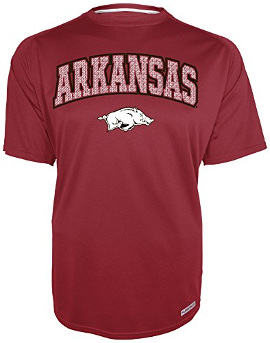 - Majestic Athletic NCAA Arkansas Razorbacks Men's Training 2 Short Sleeve Crew Neck Shirt, Small, Cardinal