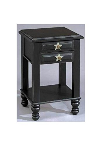 Alligator Enterprise Stars 2 Drawer Nightstand (Antique Black)