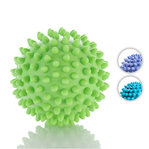 (Sport2People Rubber Yoga Massage Balls - Spiky and Lacrosse Balls to Improve Reflexology and Mobility - Deep Tissue Foot Massager, Trigger Point Roller for Myofascial Release and Plantar Fasciitis)