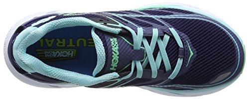 Hoka One Clifton 3, Zapatillas de Running para Mujer Azul (Medieval Blue/spring Bud)