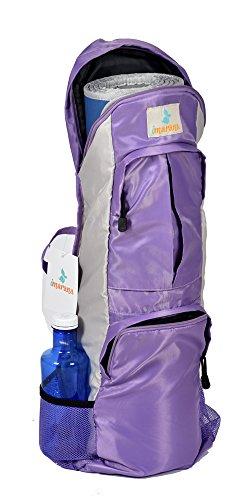 Imarana Yoga Mat Bag | Sahasrara Yoga Carrier Bag with Versatile Storage Mesh and Zipper Pockets | Fits 1/2 inch Yoga Mats by Imarana