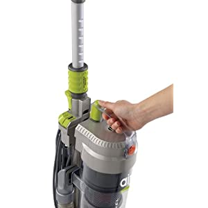 Hoover WindTunnel Air Bagless Upright Corded Lightweight Vacuum Cleaner - front handle
