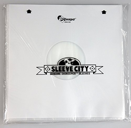 Diskeeper Ultimate Audiophile Inner Record Sleeves by Sleeve City(50 Pack)