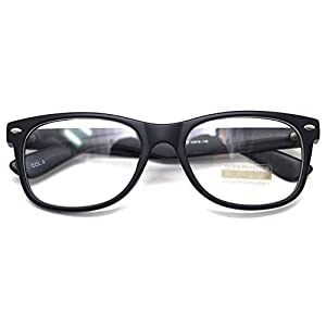 Classic Horn Rim Nerd Square Eyeglasses Spectacles Geek Clear Lens Rectangle Glasses