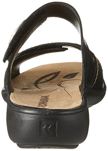 Romika - Sandalias de vestir de Piel para mujer Negro negro Schwarz (Schwarz)