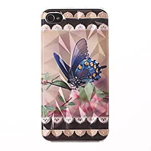 HP DF Three-Dimensional Diamond Graphics The Beautiful Butterfly Pattern PC Hard Case for iPhone 4/4S