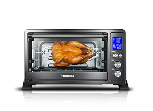 Toshiba AC25CEW-BS Digital with Convection/Toast/Bake/Broil Function 6-Slice Bread/12-Inch Black Steel