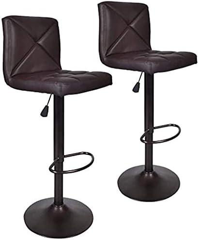 Bar Stools Modern Brown PU Leather Barstool
