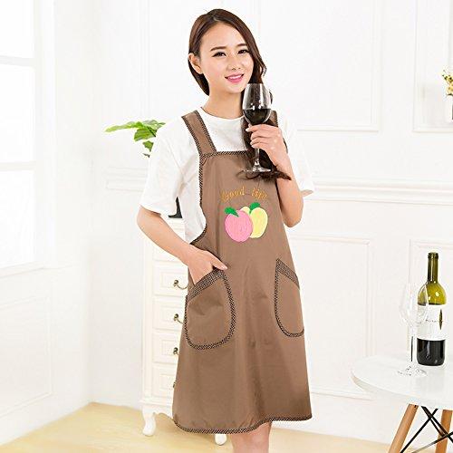 XMZDDZ One-piece Full body Apron,Long sleeve Kitchen restaurant Bib apron Women's Apron With pockets For chef kitchen bbq and grill-F by XMZDDZ