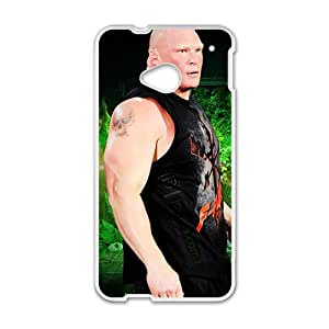 RHGGB WWE Brock Lesner Wrestling Fighting White Phone Case for HTC One M7