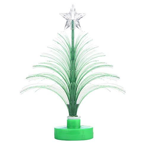 Kingko  LED Mini Fiber Seasonal Decorating Christmas Tree with Top Star - Battery Powered - ON/OFF Switch Control (Green)