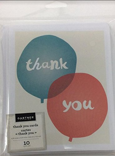 Amazon Com Gartner Studios Thank You Cards 5 1 4 X 4 1 4 White