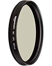AmazonBasics Circular Polarizer Camera Photography Lens - 62 mm