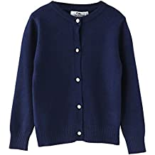 SMILING PINKER Girls Cardigan Sweaters School Uniform Knitted Long Sleeves Clothes