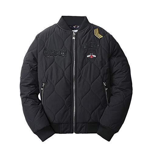 PASATO New Men's Autumn Winter Casual Long Sleeve Thicken Baseball Uniform Cotton Jacket Clearance Sale!(Black,XXL=US:XL) (Sleeveless Baseball Uniform)