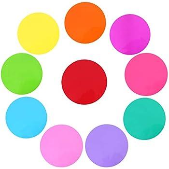 Amazon Com Dry Erase Circles Cgboom 10 Pieces Colorful