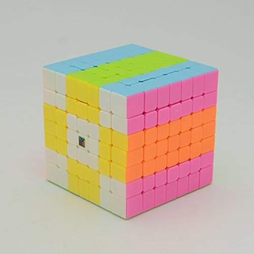 Leoie Moyu Professional 7x7 Stickerless Brain Teaser Twisty Puzzle Competition Magic Speed Cube True Color by Leoie (Creative Color Cubes)