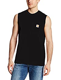 Men's Workwear Pocket Sleeveless Midweight T-Shirt