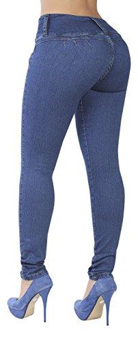 Curvify 764 Women's Butt-Lifting Skinny Jeans | High-Rise Waist, Brazilian Style Indigo Washed 11