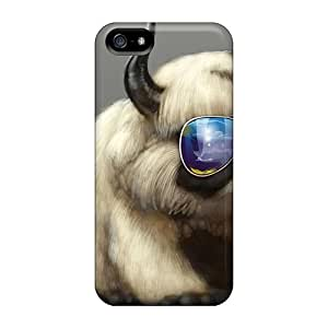 AVl11402YaQO Cases Covers Protector For Iphone 5/5s Cool Cat Or Dog Cases