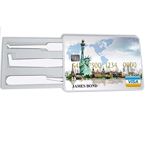 KATTEONG 5pcs Credit Card set Hardware Multitools for Training Practice tools Statue of Liberty Card