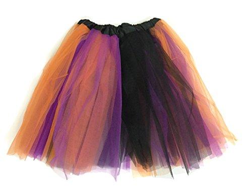 Ballet Halloween Costumes For Adults (Rush Dance Multi Color Women's PLUS SIZE Costume Ballet Warrior Dash Run Tutu (Adult, Orange/Purple/Black (Halloween)))
