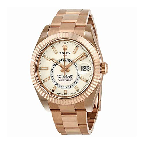 Rolex-Sky-Dweller-White-Dial-Automatic-Mens-18kt-Everrose-Gold-Oyster-Watch-326935WSO