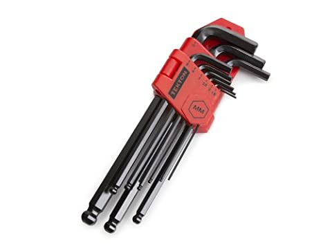 TEKTON Long Arm Ball End Hex Key Wrench Set, Metric, 9-Piece | 25271 - Arm Hex Key