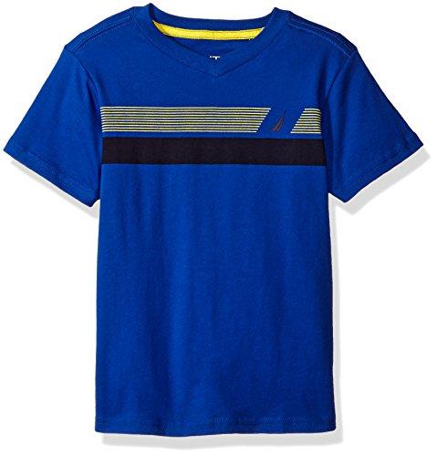 Nautica Striped V Neck Jersey Shirt