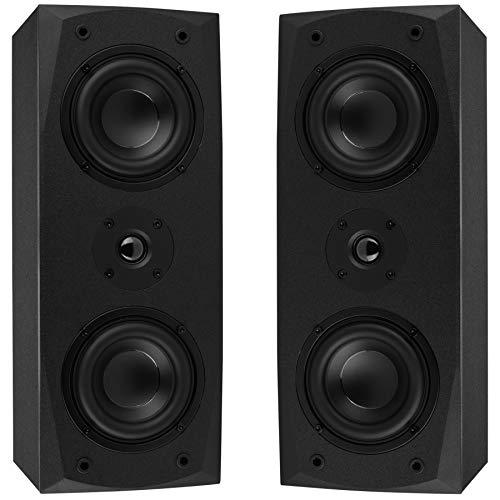 "Dayton Audio MK442 Dual 4"" 2-Way MTM Bookshelf"