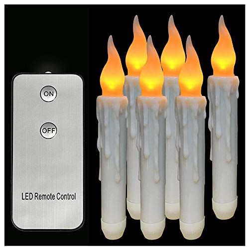 MSOO Homemory 6PCS Battery Operated Flameless LED Taper