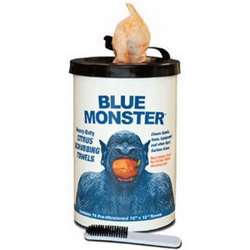 Duty Paint Blue Heavy - Blue Monster 77095 Blue Monster Heavy-Duty Citrus Scrubbing Towel, 12  x 10