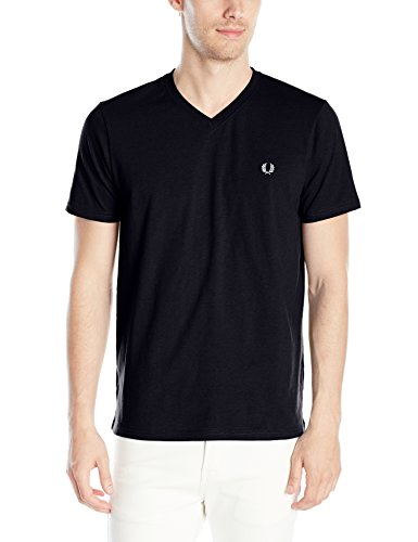 Fred-Perry-Mens-V-Neck-T-Shirt