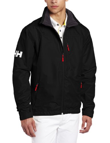 Helly Hansen Men's Crew Midlayer Waterproof Windproof Breathable Sailing Rain Coat Jacket, 990 Black, ()