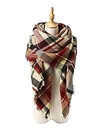 American Trends Unisex Plaid Soft Warm Blanket Tartan Scarf Large Wrap Shawl I-Mix ColorB