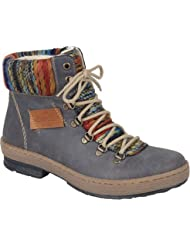Rieker-Antistress Womens Felicitas 43 Lace Up Ankle Boot