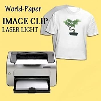 ab36e046 Amazon.com : Laser Heat Transfer Paper For Laser Printers 8.5x11 (50  Sheets) : Fabric Iron On Transfers : Office Products